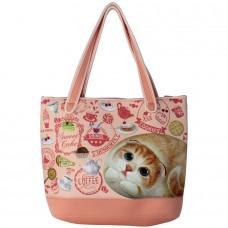 Вместительная сумка с кошкой Хенной на плечо