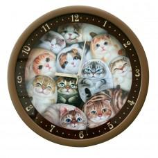Часы настенные с кошками