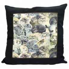 Подушка декоративная Кошки Генри в рамке
