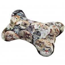 Подушка шейная с кошками в виде косточки в автомобиль или самолет